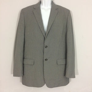 Merona Mens 44L Gray Pin Stripe Suit Jacket Blazer